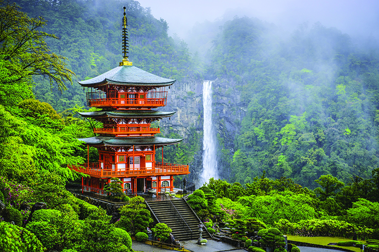 Japan Seigantoji Pagoda and Nachi Falls