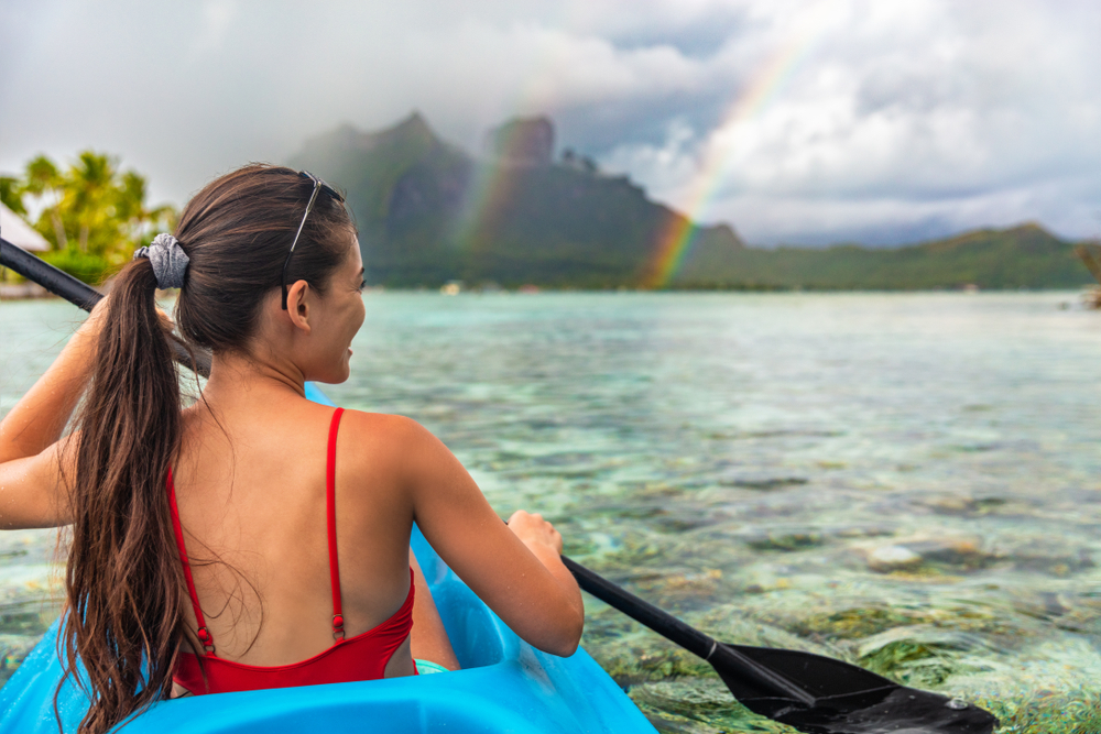 Kayaking in French Polynesia