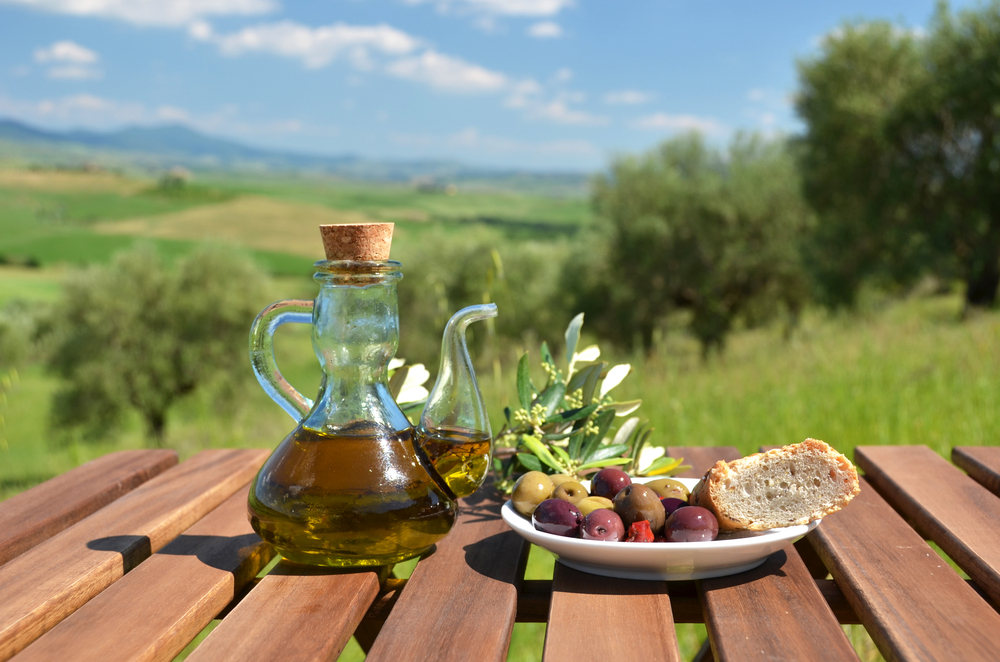Food in the hills of Tuscany